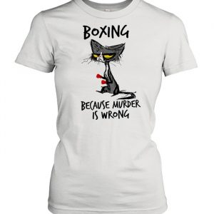 Black Cat boxing because murder is wrong  Classic Women's T-shirt