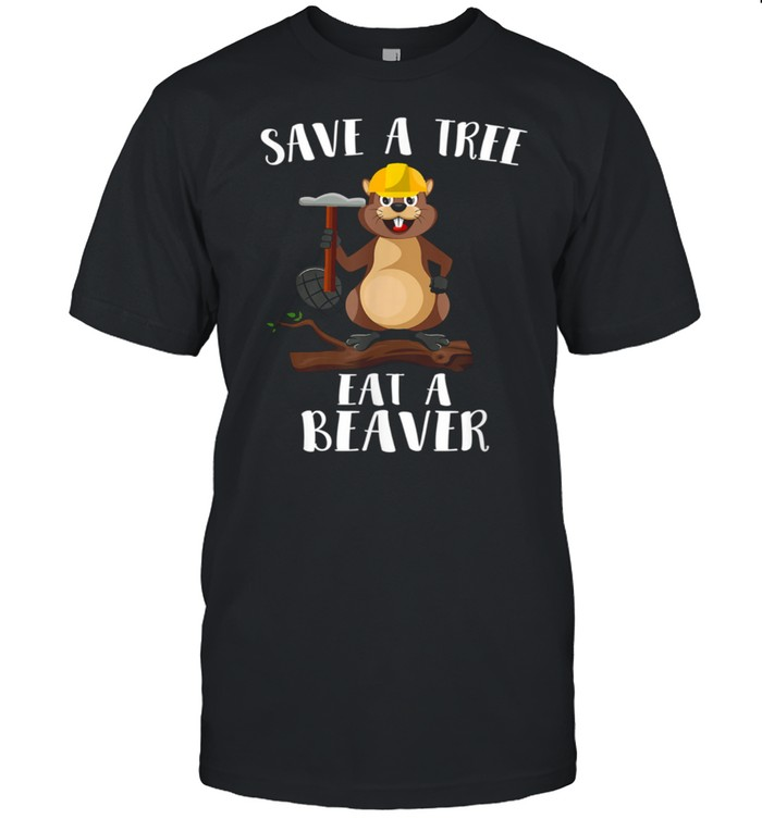 Save The Tree Eat The Beaver for Earth Planet  Classic Men's T-shirt