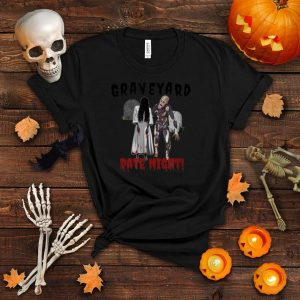 Halloween Graveyard Date Zombie & Ghost Trick or Treat T Shirt
